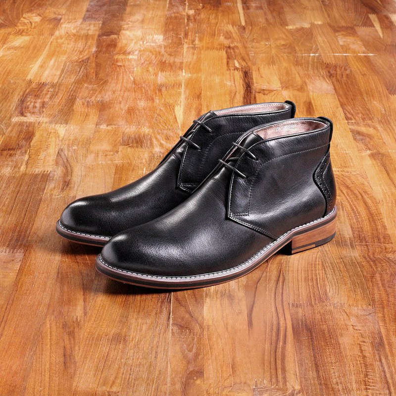 Vanger elegant beauty ‧ European simple scrub desert boots Va206 black