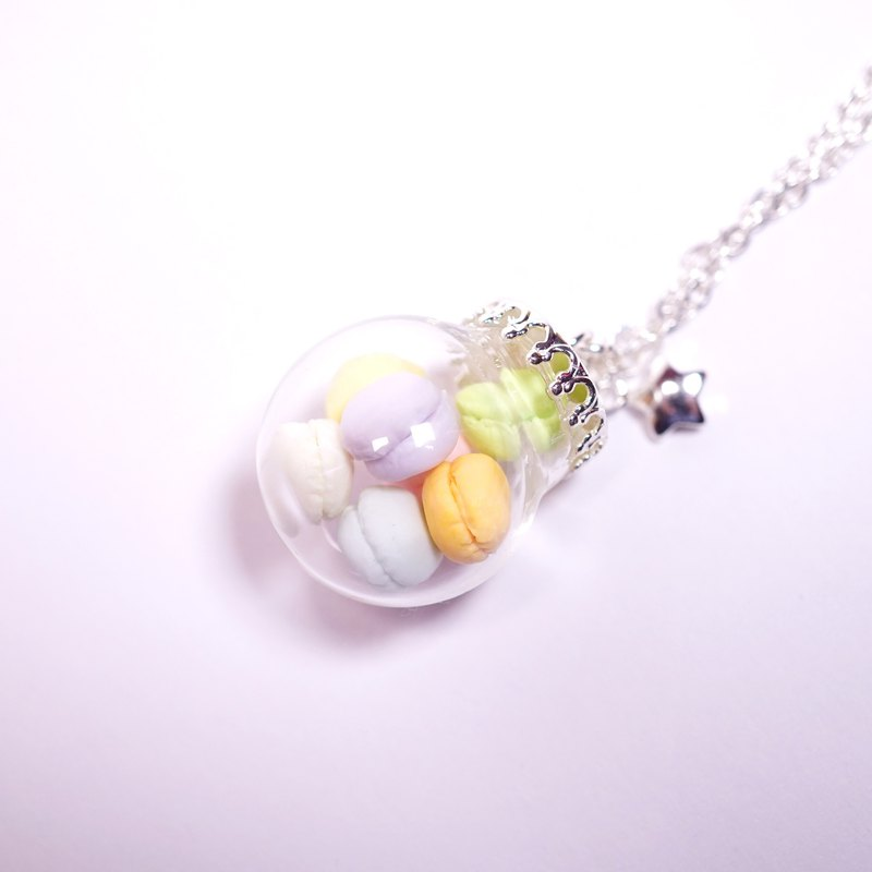 *Playful Design* Marcaron in Glass Ball Necklace
