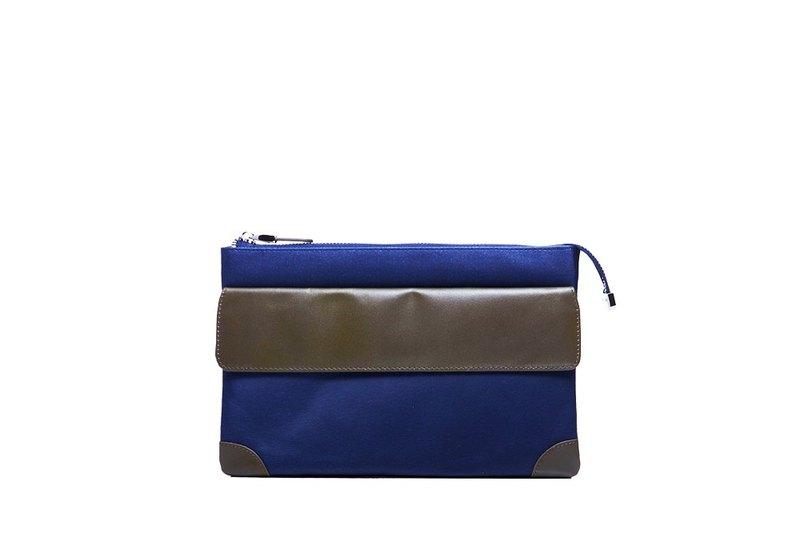 輕商旅 | 三層萬用包 | 藍 | 外幣收納 | 收納控 | 手拿包