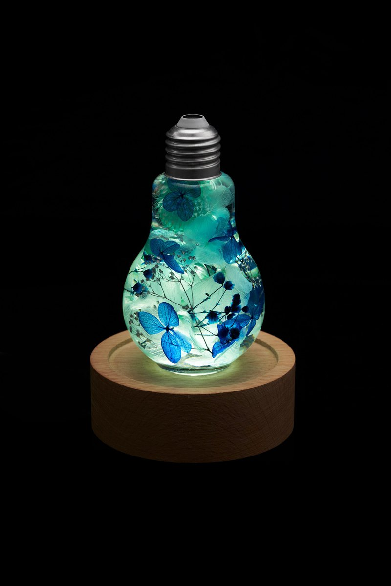 Preserved flower nightlight/flower lightbulb/home decor/LED wooden/herbarium