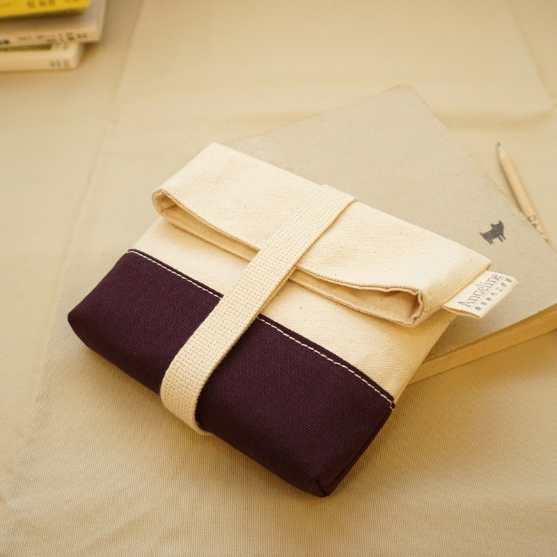 Canvas rope bag - purple