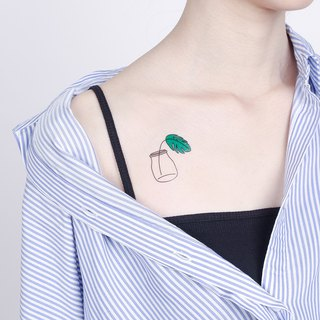 Surprise Tattoos - Cheese Plant Temporary Tattoo