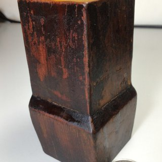 Old Taiwan Xiao Nan wooden table foot pen holder (C)