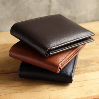 Wallet - Bifold - Dark Brown (Genuine Cow Leather) / Small Wallet  / 钱包 / 皮包