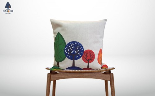 Forest cushion Colorful trees Hinoki scent