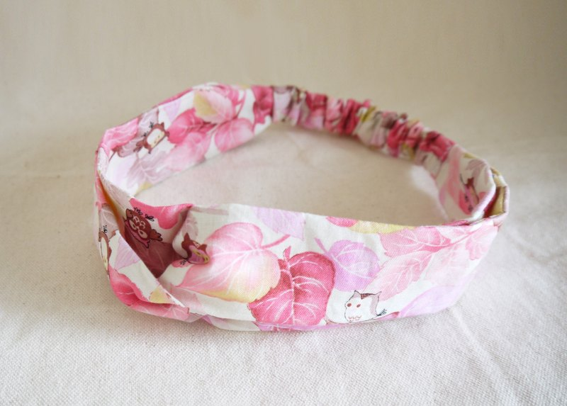 Peach Red Cat Leaf Eagle Hairband