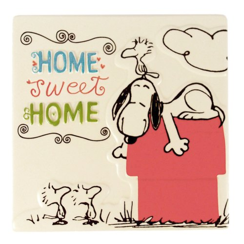 Snoopy Ceramic Tiles - Sweet Home [Hallmark-Peanuts Snoopy Ornaments / Ceramic Tiles]