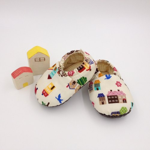 Urban landscape - toddler shoes / baby shoes / baby shoes