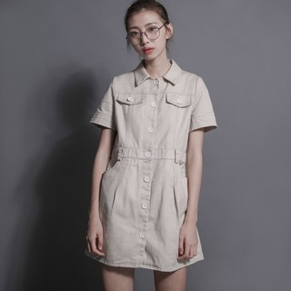 Explorer Explorer Shirt Dress _7SF013_Kaki