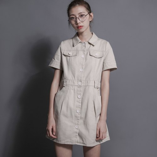 SU: MI said Explorer Explorer Shirt Dress _7SF013_ khaki