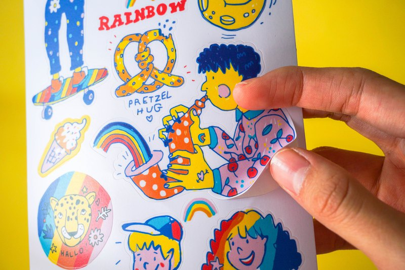 RAINBOW STICKER PAD