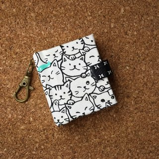 [Crowded cats] Mini small phase key ring 5cmX4.3cm - custom small things