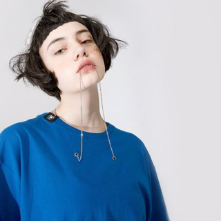 UNISEX NECKLACE T SHIRT / Royal Blue