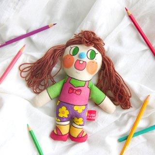 original hand-painted doll basic type coffee long hair