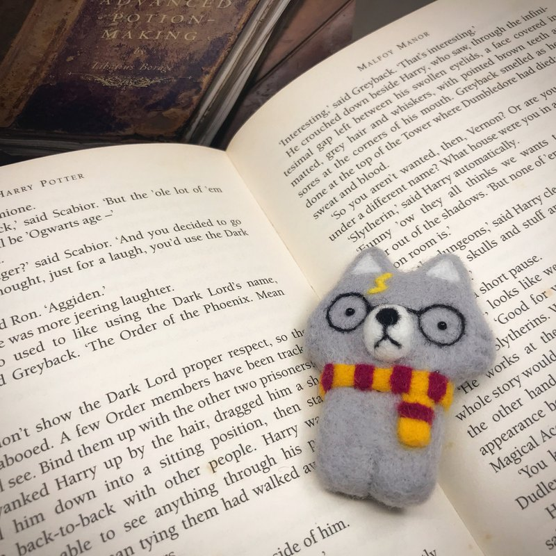 Needle Felted Harry Woofter Brooch