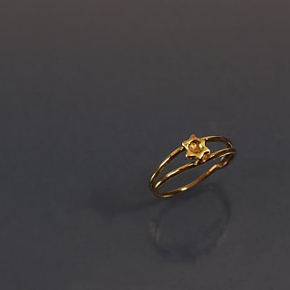 Small flower brass ring