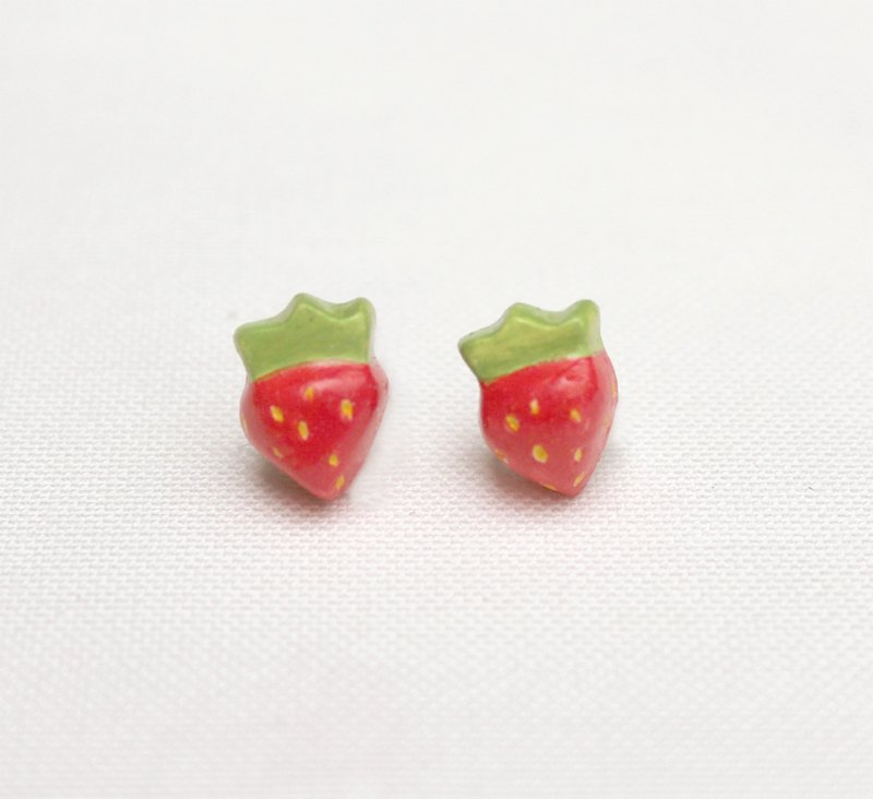 Handmade strawberry  earrings