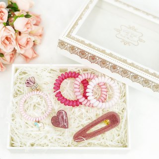 Lovely Hair Accessory Box Set (Pink)