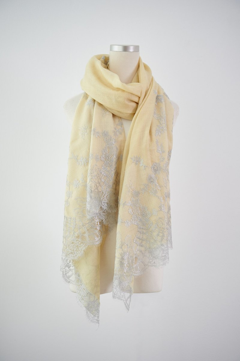 100% pashmina French lace shawl scarf