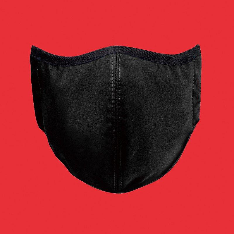 台灣製造MIT 高抗菌透氣可水洗 玩色系列_時尚黑_防護布口罩