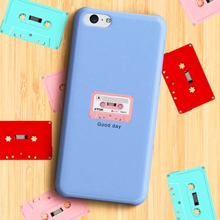 Good day Cassette - Sky blue Phone case