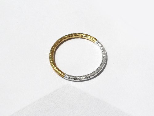 925 Silver Two-Tone Ring | 24K Gold