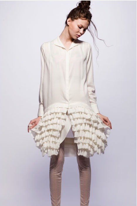 16 spring and summer sample sale16SS white cotton dress