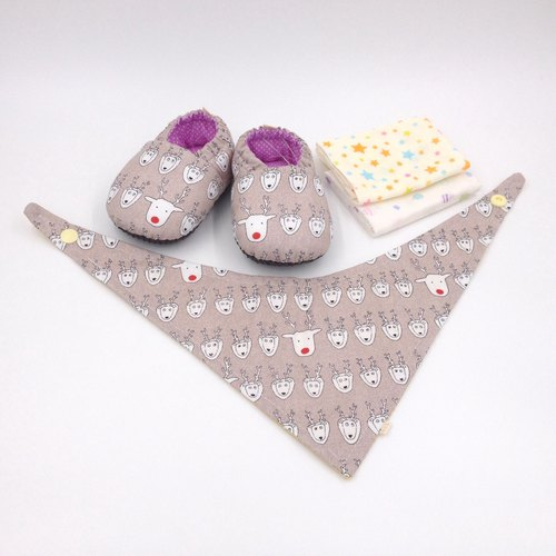 HBS degree 晬 baby gift - ranked elk (toddler shoes, handkerchief, scarf)