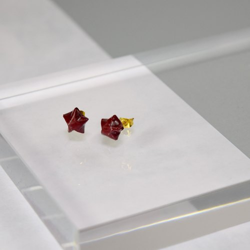 Cute Little Red Lucky Star Handmade Earrings