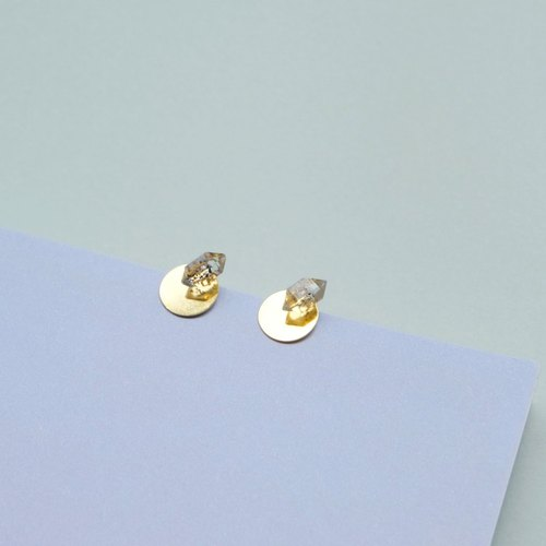 N IS FOR NEVERLAND Hermione crystal personality 925 sterling silver stud earrings