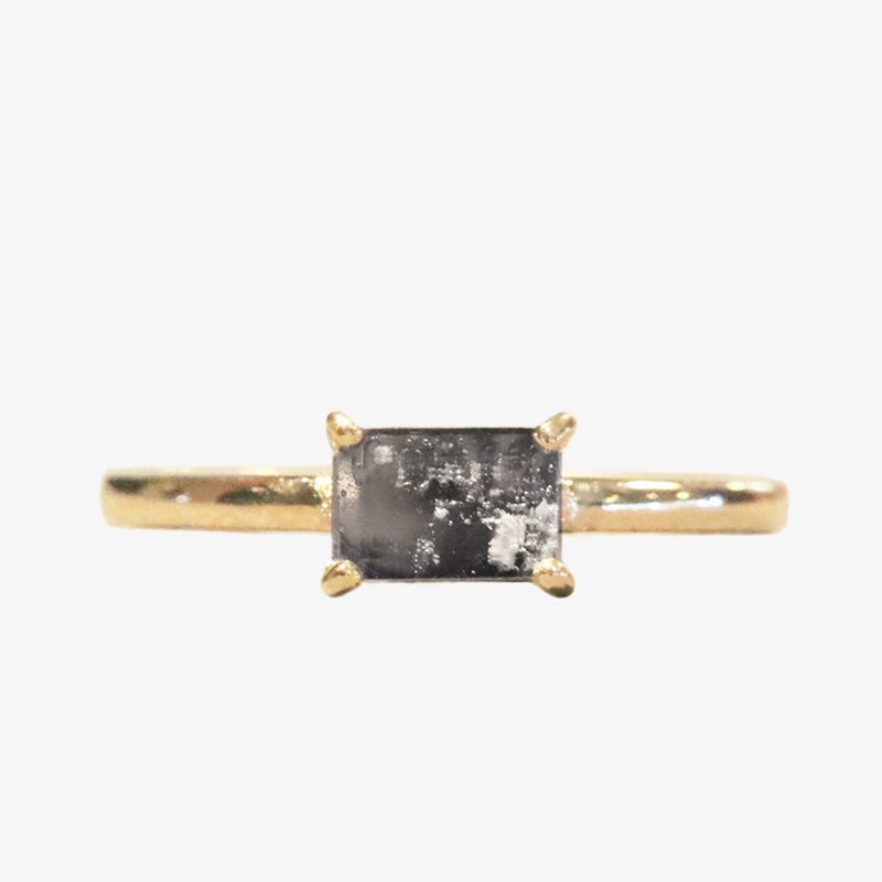Memorial K Gold Ring - Prong Setting (Rectangle)
