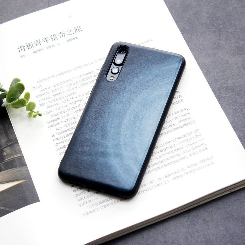 Huawei smudged leather mobile phone shell top layer cowhide mobile phone sets p20 p30 mate20 pro