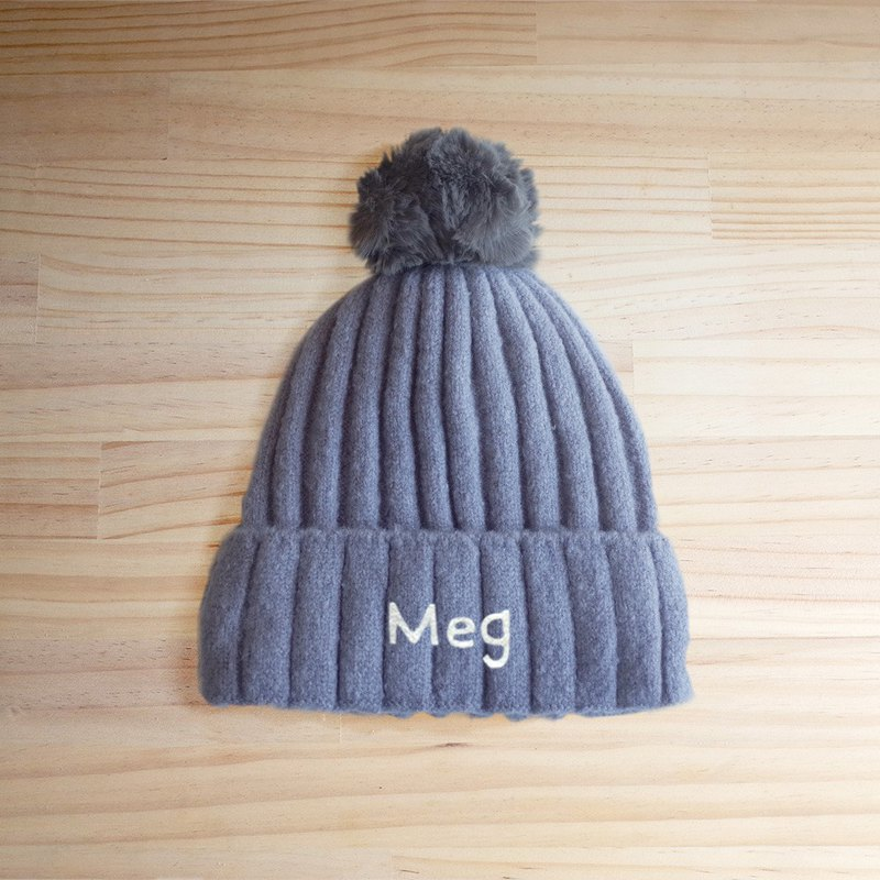 [Q-cute] Wool hat series-customized English characters/ball cap (customized -7 letters or less)
