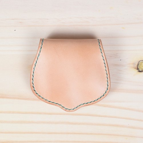 Goofy - Full vegetable tanned leather hand-stitched purse Horseshoe
