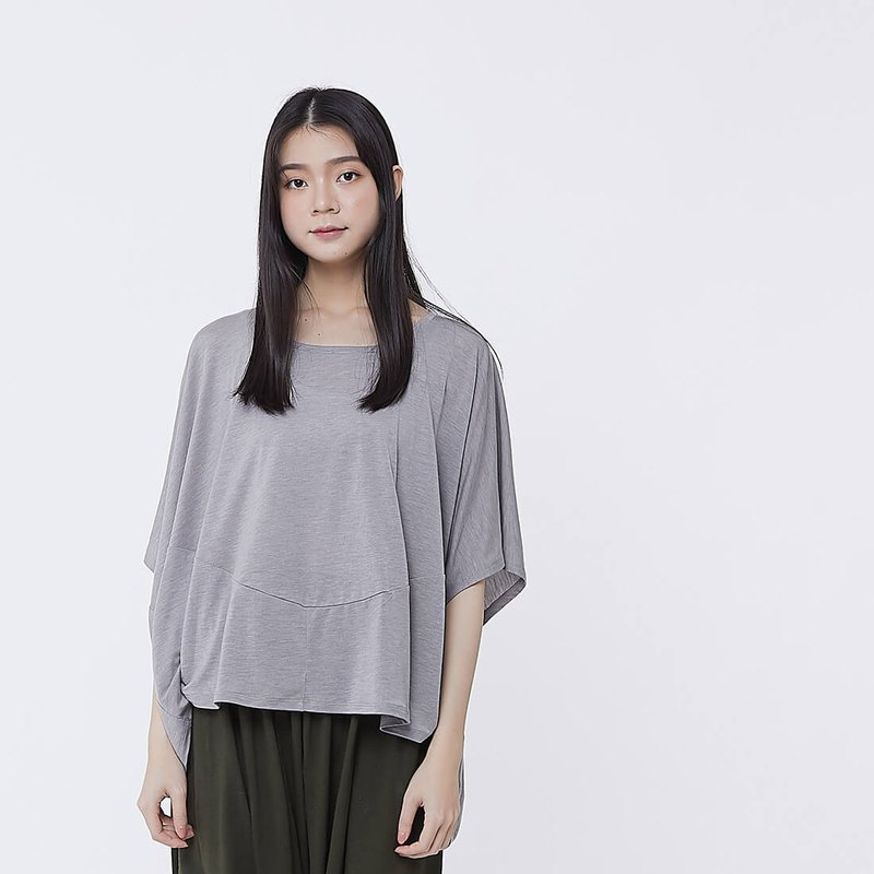 Qbby Cocoon Shape Cutting Top Grey