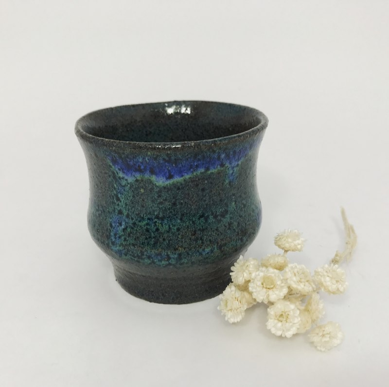 Classic Blue Glazed Teacup