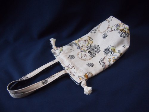 Double-sided beam port small bag - bunny, cat and a little bit of cowboy Little Pig X