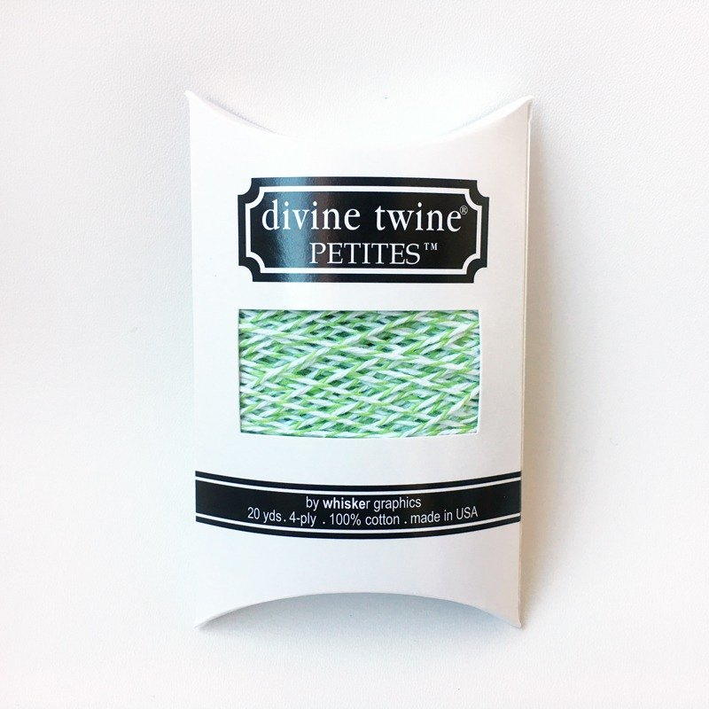 US imports Divine Twine PETITES double color cotton thread [Green Apple]