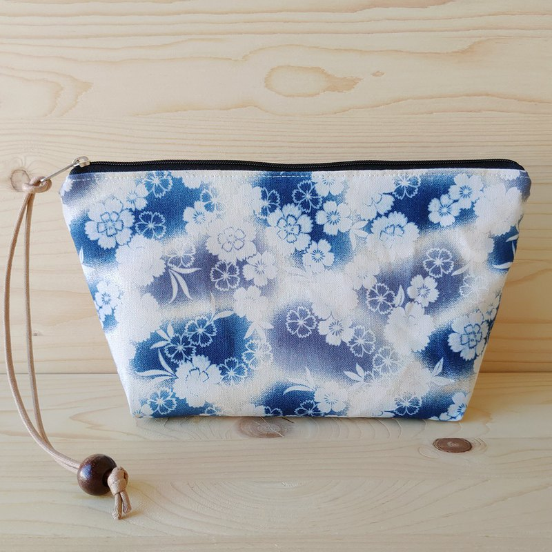Gradient cherry blossom cosmetic bag beauty bag beauty bag