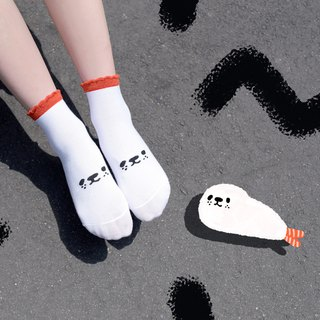 [Exclusive] a whole fried shrimp seal socks - skin-friendly cotton