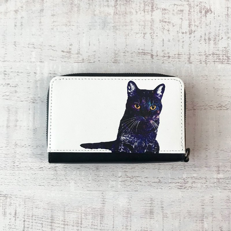 Mini Wallet GALAXY CAT / coin case / card case / starry sky / star / universe