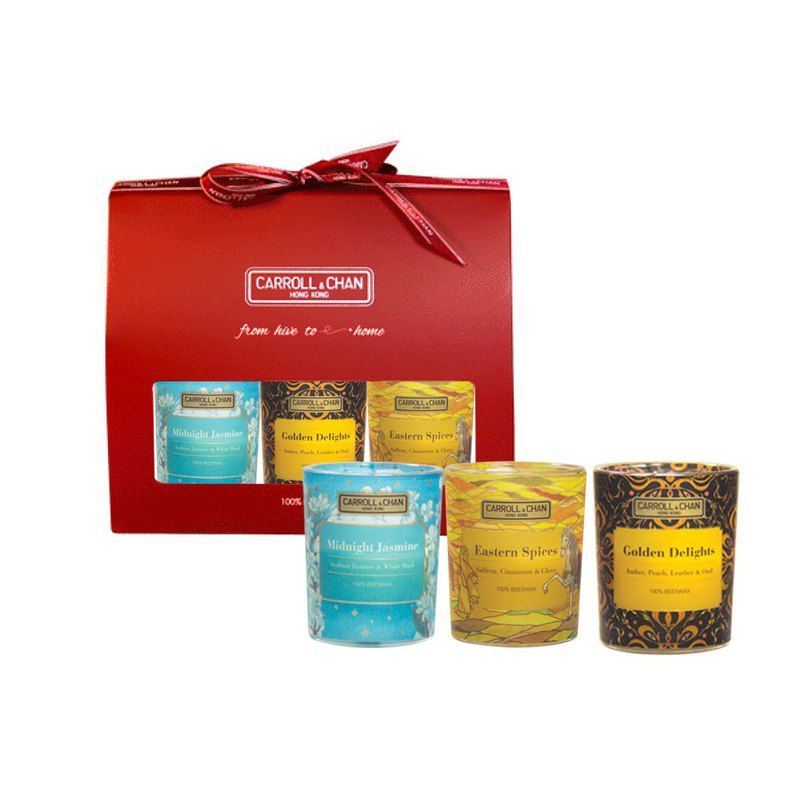 【Gift Set】Scent of Silk Road Beeswax votive candle set