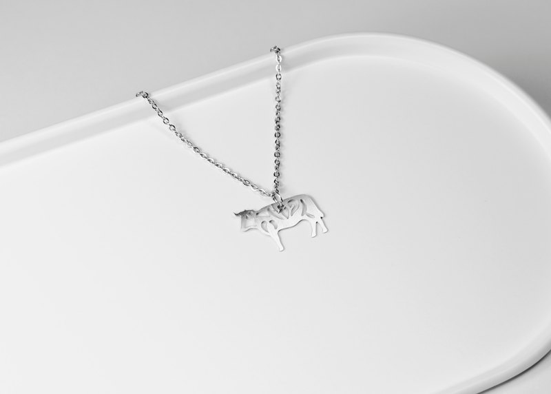 Zodiac - cow necklace [mini models] _ animal series _ questions