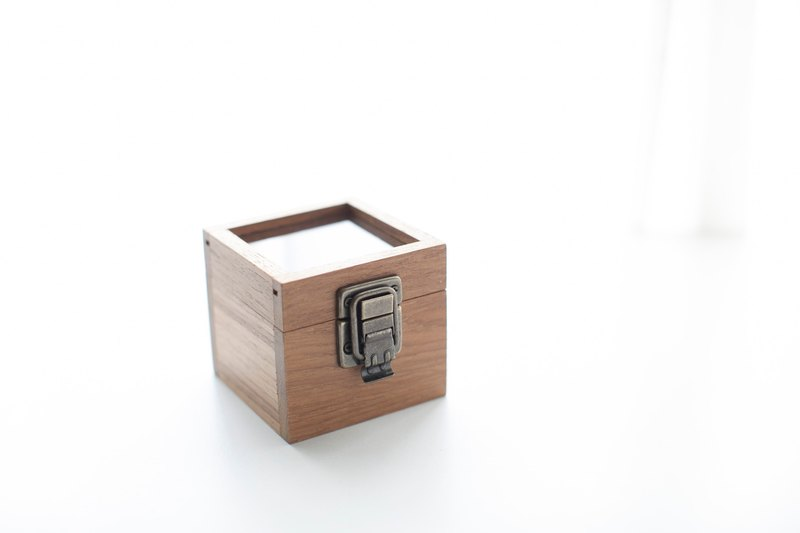 Customized boutique storage teak glass box wood box small
