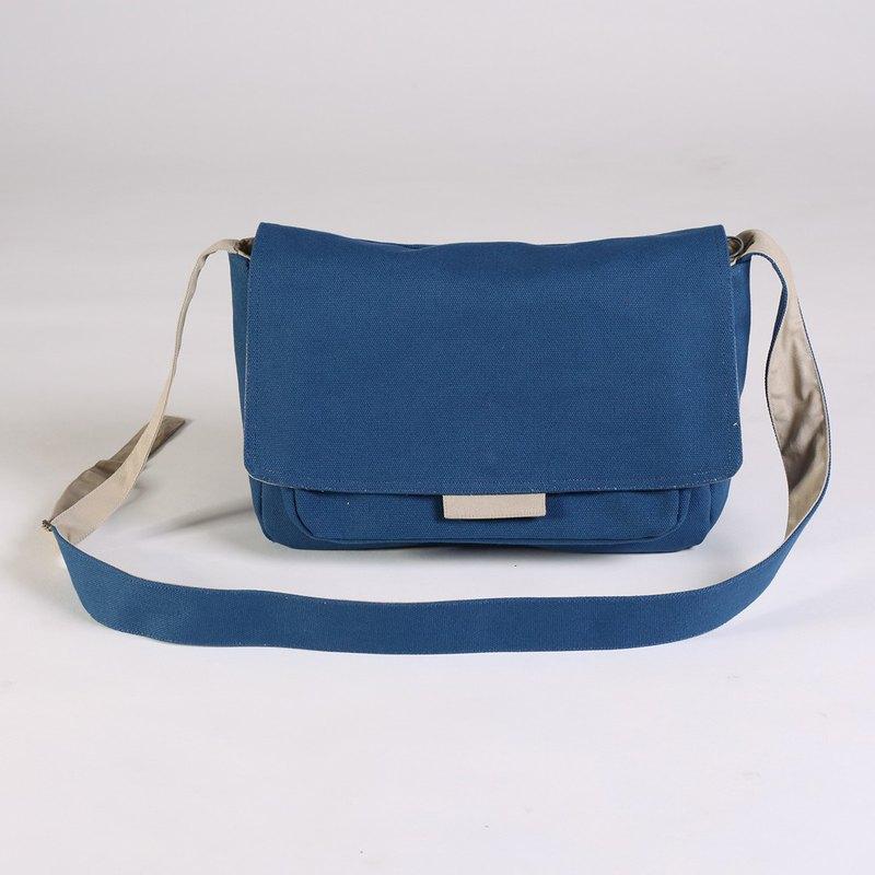 肩斜背兩用/帆布隨行包-經典藍/classic blue