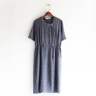 River water - Kagawa black and blue water ripple classic woman antique dress silk dress overalls oversize vintage dress