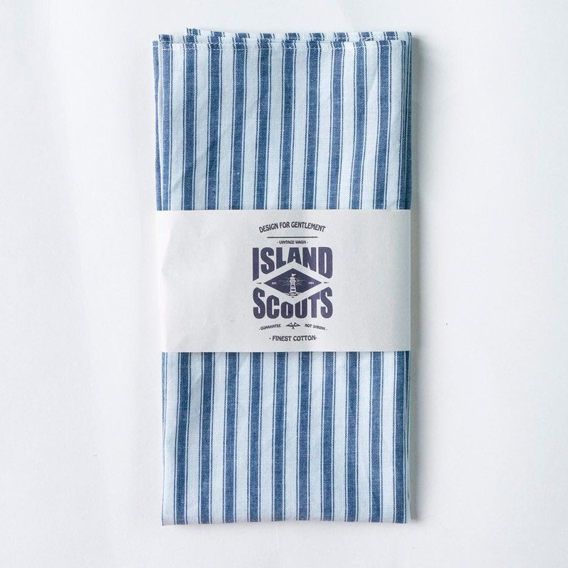 Island Scouts Bandana - Blue/White Oxford Stripes