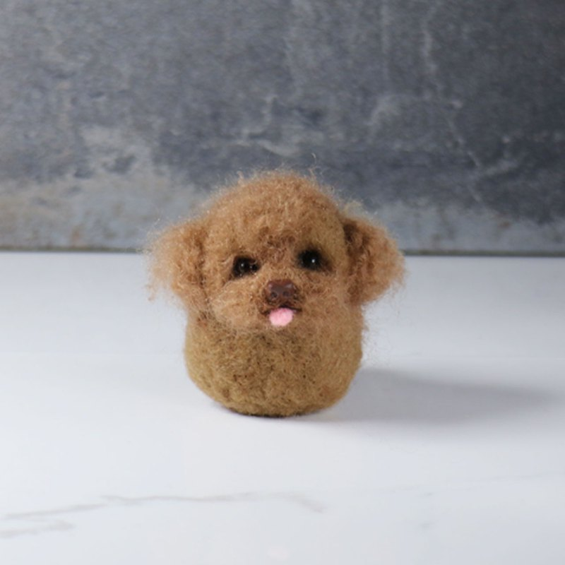 Wool felt curl VIP pill [feiwa 霏 hand made] pet doll (welcome to order your dog)