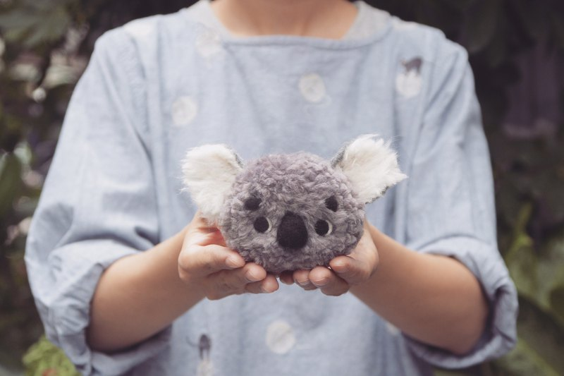 Two-handed two hands! koala wool felt ball material package