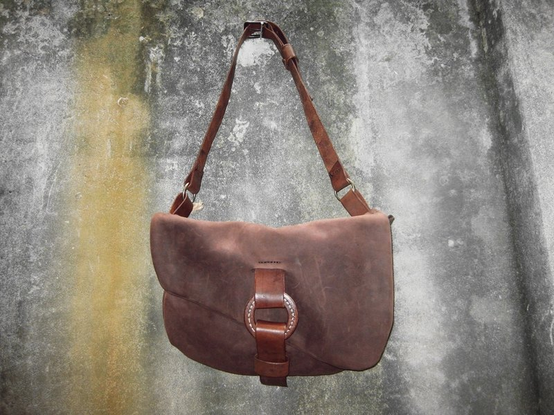 After ~ ~ homemade garden accessories nubuck leather messenger bag slung BC-188